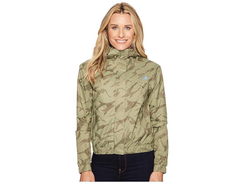 The North Face Precita Rain Jacket (Deep Lichen Green Marker) Women