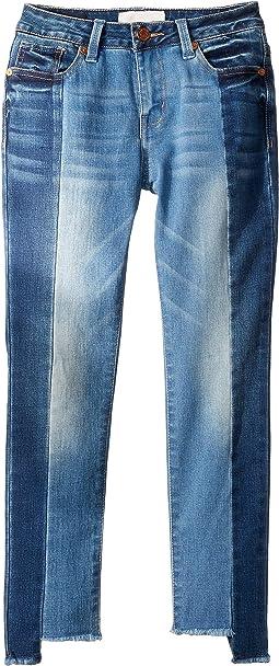 Chelsey Uneven Hem Jeans in Denim (Big Kids)
