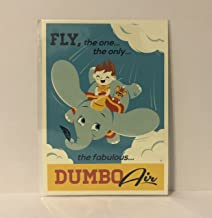 Disney Wonderground Gallery Fly Dumbo Air Postcard by Dave Perillo