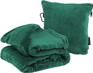 2-in-1 Fleece Travel Blanket and Pillow Set - Best Travel Pillow Set with Packable Blanket - Use as Airplane Blanket, Airplane Pillow, Camping Pillow & Camping Blanket, Car Blanket