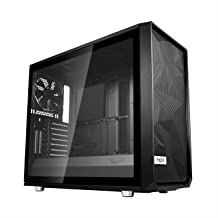 Fractal Design Meshify S2- Mid Tower Computer Case- Airflow/Performance- 3X Silent Fans and Nexus Hub Included- PSU Shroud- Modular Interior- Water-Cooling Ready- USB Type C- Black Tempered Glass