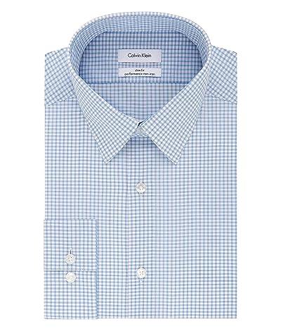 Calvin Klein Dress Shirts Non Iron Slim Fit Stretch Check