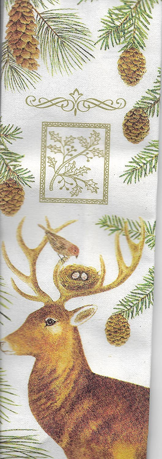 Alice's Discount mail order Cottage Deer Pinecones Wine Caddy Finally popular brand