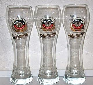 Erdinger Bicchiere da Birra Bianca//Bianco Satinato//Coppa//Vetro Esclusivo