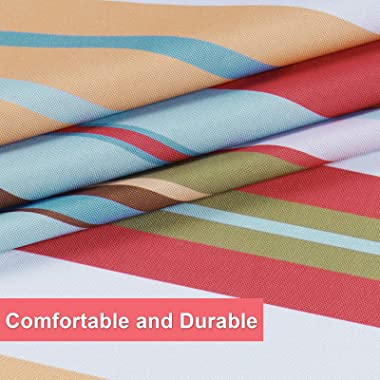 Stripe Tablecloth, Striped Colorful Table Cloth for Summer Spring Fall Autumn, Waterproof Table Cover for Outdoor, Picnic, Ca