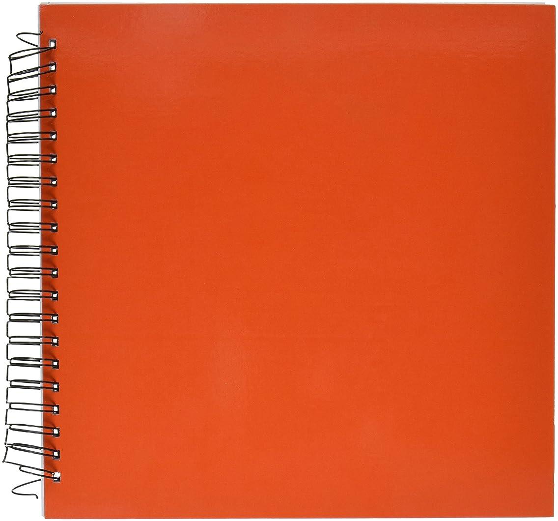 3dRose db_5051_2 Bright Orange Memory Book, 12 by 12-Inch