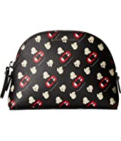 Marc Jacobs - Popcorn Scream Printed Coated Canvas Dome Cosmetic