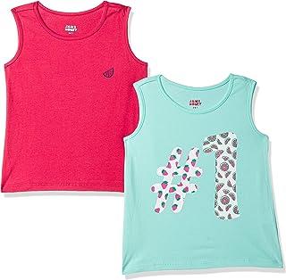 Amazon Brand - Jam & Honey Girl's Regular Fit T-Shirt
