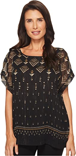 Vince Camuto - Extend Shoulder Deco Highlights Blouse