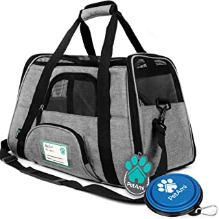 PetAmi Premium Airline Approved Soft-Sided Pet Travel Carrier | Ventilated, Comfortable Design with Safety Features | Ideal for Small to Medium Sized Cats, Dogs, and Pets