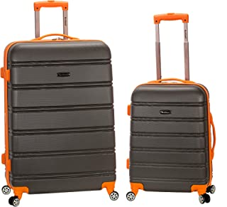 """Rockland 20"""", 28"""" 2pc Expandable Abs Spinner Set, Charcoal"""