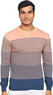 United Colors of Benetton Mens Round Neck Stripe Sweater