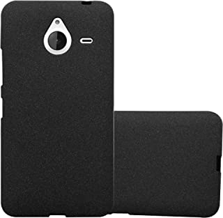 Cadorabo Case Works with Nokia Lumia 640 XL in Frost Black – Shockproof and Scratch Resistant TPU Silicone Cover – Ultra Slim Protective Gel Shell Bumper Back Skin