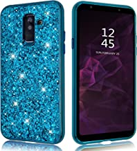 Samsung Galaxy A6 Plus Case Glitter Shiny Bling Sequin Sparkle Diamond Hard Luxury Thin Soft Cute Girl Women Phone Cover for Samsung Galaxy A 6 + (2018) (Blue, Samsung Galaxy A6Plus / A6+)
