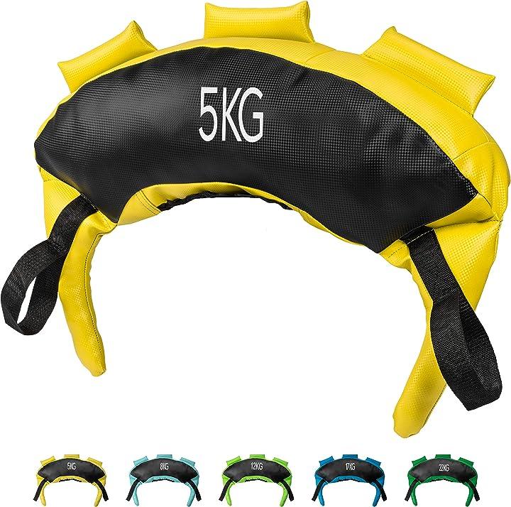 Sacca bulgara 5-22 kg - ideale per migliorare forza esplosiva resistenza e coordinazione - powrx B078HYG69C