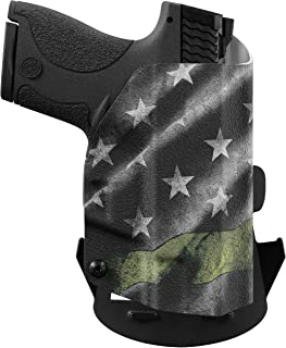 We The People - Thin Green Line - Outside Waistband Concealed Carry - OWB Kydex Holster - Adjustable Ride/Cant/Retention