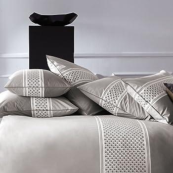 Matt /& Rose Esprit Scandinave Housse de Couette Coton Gris//Blanc 200 X 140 cm