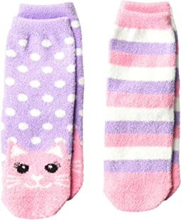 Cat Fuzzy Slipper Socks 2-Pack (Toddler/Little Kid/Big Kid)