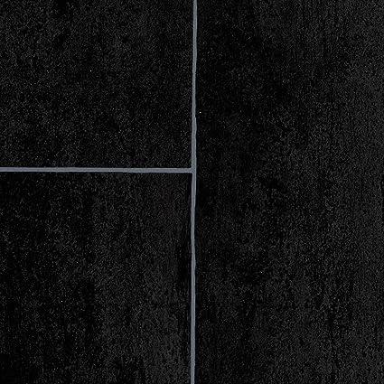 PVC Bodenbelag Steinoptik 300 und 400 cm Breite 200 verschiedene Gr/ö/ßen Gr/ö/ße: 3 x 3 m Fliesenoptik Mosaik grau Meterware