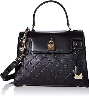 Michael Kors Gramercy Chain Embossed Leather Top Handle Satchel