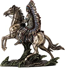 Top Collection Chief Sitting Bull on Horseback Statue – Native American Sculpture..