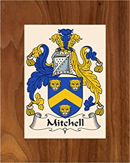 Carpe Diem Designs Mitchell Coat of Arms/Mitchell Family Crest 8X10 Photo Plaque, Personalized Gift, Wedding Gift