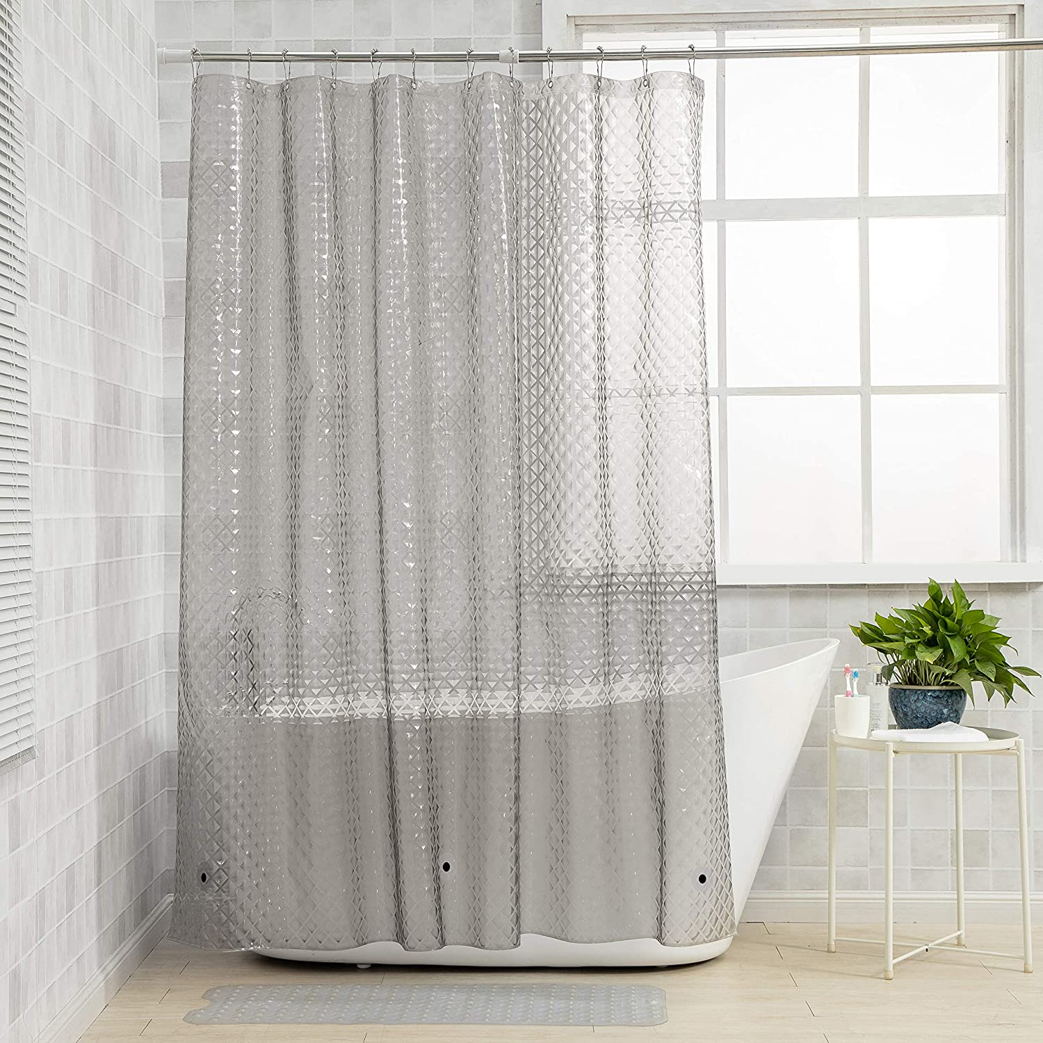 NTBAY Columbus Mall EVA Max 52% OFF Clear Shower Curtain Cur Repellent Water Liner