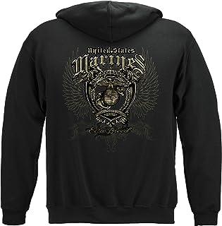 Marine Corps Hooded Sweat Shirt Marine Crest Elite Breed THM062SW