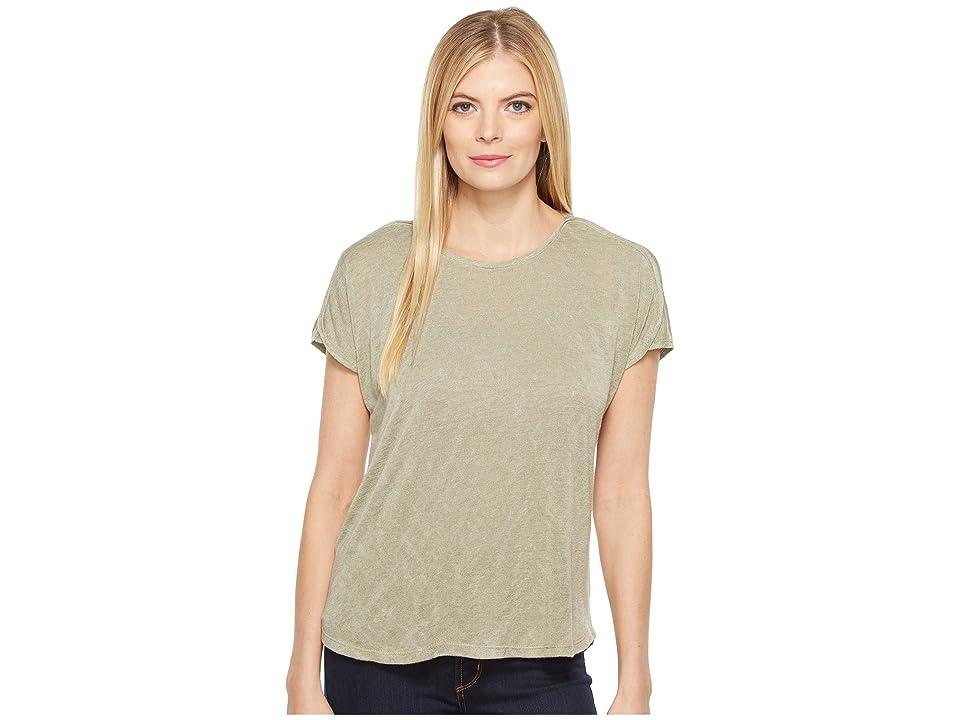 B Collection by Bobeau Avery Boat Neck T-Shirt (Avocado) Women's T Shirt