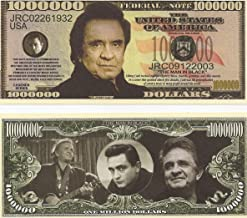 American Art Classics Johnny Cash Limited Edition Million Dollar Collectible Bill in Desktop Currency Stand - Best Desk Top Accessory Gift - The Man In Black