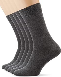 MERAKI Mens Cotton Calf Socks Pack of 5 Brand