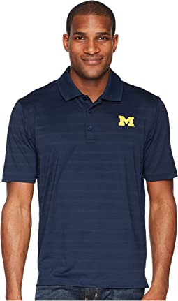Michigan Wolverines Textured Solid Polo