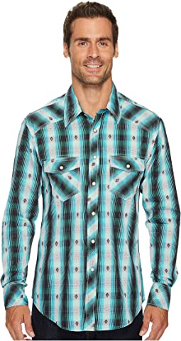 Rock and Roll Cowboy - Long Sleeve Snap B2S3153