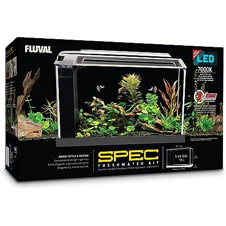 Fluval SPEC Freshwater Aquarium Kit, Aquarium with LED Lighting and 3-Stage Filtration