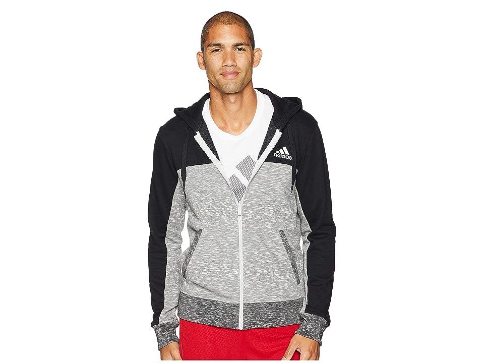 adidas Pick Up Full Zip Shooter (Black/LGH Solid Grey) Men
