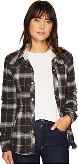 Dylan by True Grit - Melange Flannel & Frosty Tipped Snap Shirt Jacket