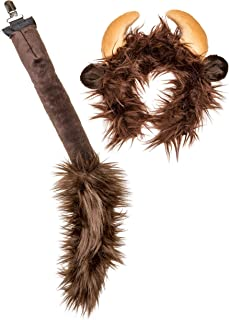 Wildlife Tree Plush Zoo Animal Ears Headband and Tail Clip-On for Animal Costumes and Cosplay or Theatre