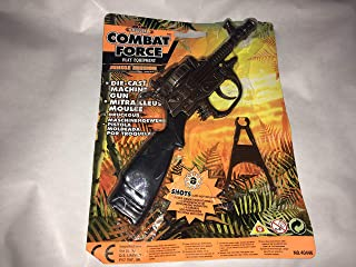 """Combat Force DIECAST METAL 8 RING SHOT 6"""" RIFLE CAP GUN WITH STAND"""