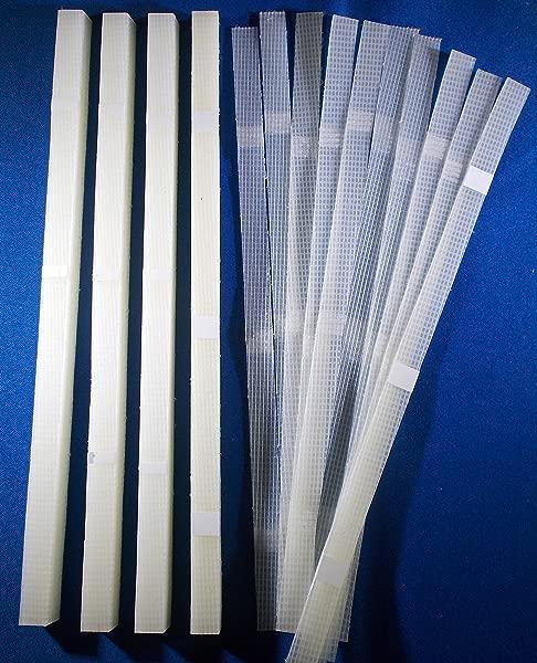 ThermoBind 50Pcs 1 2 12毫米胶条带网眼背衬 80 110 片材容量