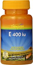 Thompson E with Mixed Tocopherols 400 IU Softgels, 60 Count