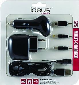POWERPLUSGPS Ideus-Caricatore per GPS  con connettori  mini USB  nero quot