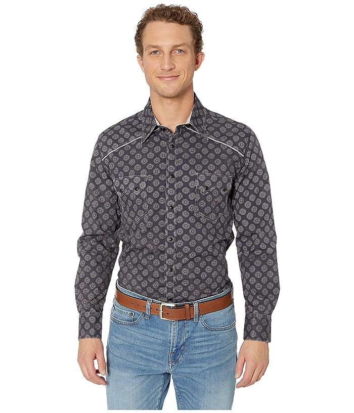 9cf55853 Rock and Roll Cowboy Long Sleeve Print Snap B2S9128 at Zappos.com