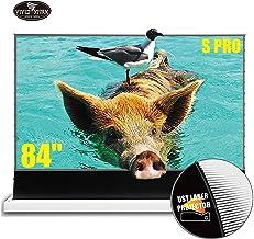 VIVIDSTORM S PRO超短焦点レーザープロジェクタースクリーン、TVホームシアタープロジェクター8K / 3D / UHDホワイトハウジングの電動フロアライジングスのクリーン84インチのアンビエントライトリジェクションスクリーン - ...