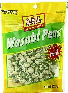 Good Sense Savory Snacks, Wasabi Peas, 5-Ounce Bags (Pack of 12)