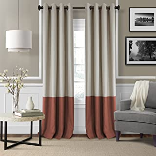 Elrene Home Fashions 26865874709 Braiden Room Darkening Grommet Window Curtain Drape Panel, 52