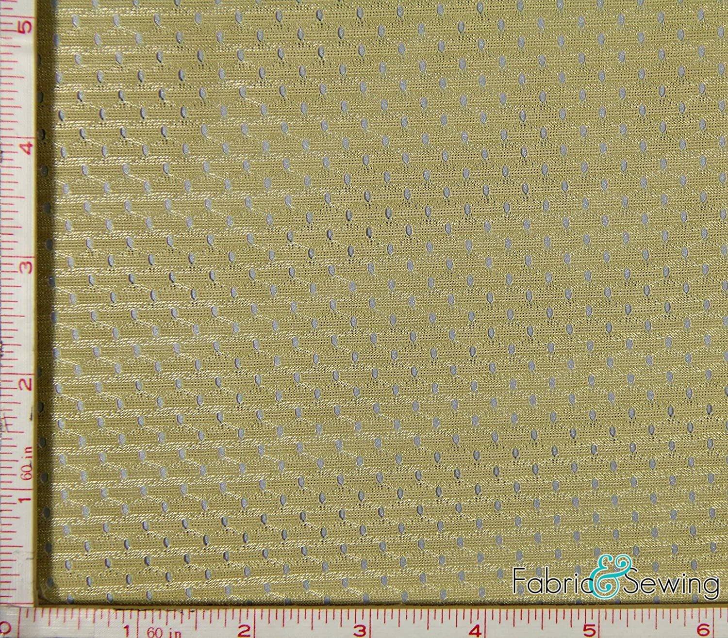 In stock Dark Gold Yellow Japan's largest assortment Football Mesh Sport Polyes 2 Stretch Way Fabric