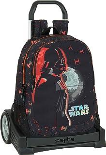Mochila Espalda Ergonómica con Carro Evolution de Star Wars The Dark Side, 320x160x440mm, negro/naranja, M (M860)