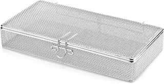 Key Surgical MT-7200 Micro Mesh Tray with Lid, Stainless Steel, 270 mm x 135 mm x 40 mm
