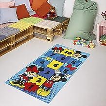 Carpet Studio Disney Alfombra Infantil Suave al Tacto para Niño y Niña, 80x160cm, Respaldo de látex Antideslizante, Fácil de Mantener, Sin Peligro para niños y Animales, Mickey & Minnie Pop-it