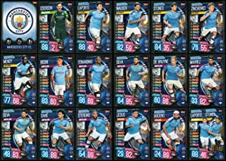 MATCH ATTAX 19/20 Manchester City Full 18 Card Team Set - Champions League